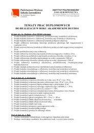 Tematy prac dyplomowych 2013-2014