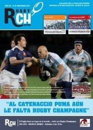 """""""AL CATENACCIO PUMA AÚN LE FALTA ...  - Rugby Champagne Web"""
