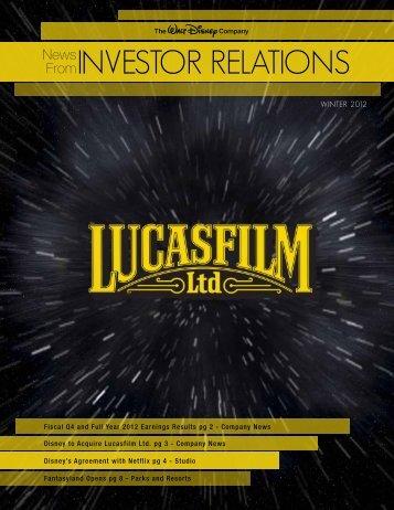 INVESTOR RELATIONS - The Walt Disney Company