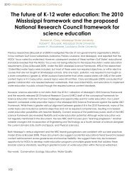 The future of K-12 water education - Water Resources Research ...