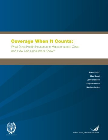 Coverage When It Counts: - Georgetown University - Health Policy ...