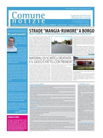 """strade """"mangia-rumore"""" a borgo - Comune di Borgo San Lorenzo"""
