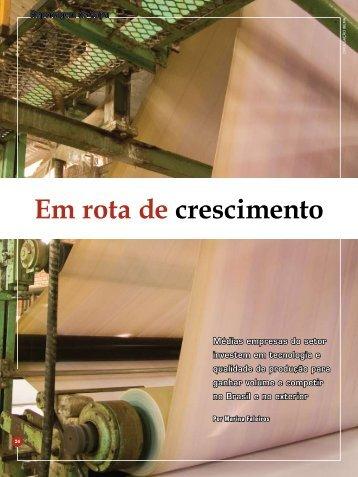 Em rota de crescimento - Revista O Papel
