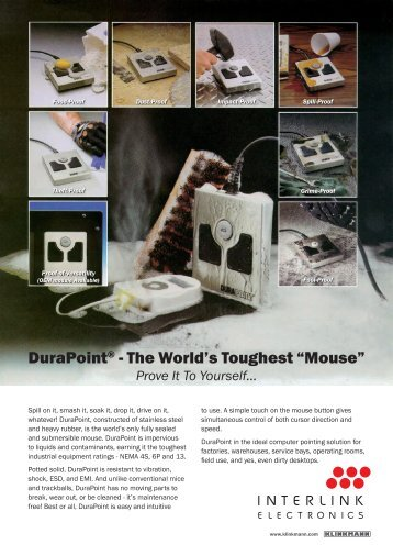 """DuraPoint® - The World's Toughest """"Mouse"""" - Klinkmann."""