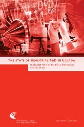 the state of industrial r&d in canada - Council of Canadian Academies