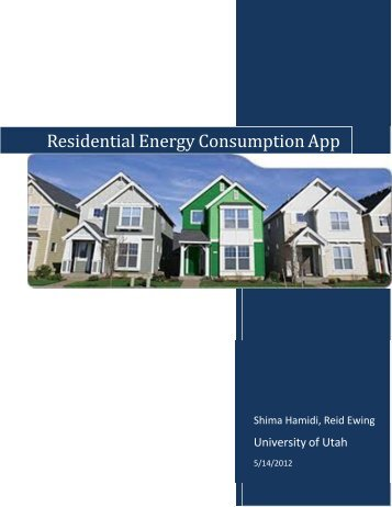 Residential Energy Use Model - University of Utah Graduate School ...