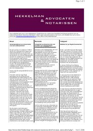 november 2010 - Hekkelman Advocaten & Notarissen