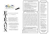 Informations du Conseil Municipal n° 7 - Novembre ... - Mairie d'Eteaux