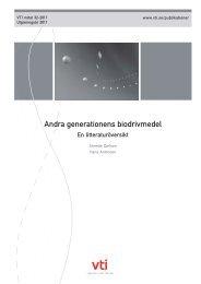 Andra generationens biodrivmedel - VTI