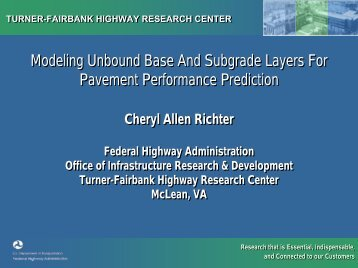 Modeling Unbound Base And Subgrade Layers For Pavement ...