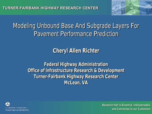 Modeling Unbound Base And Subgrade Layers For Pavement