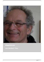 Abgefahren von Norbert Treu - Wagner Verlag - Autorentexte