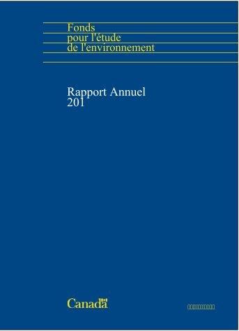 Rapport annuel 2011 - Le Fonds pour l'étude de l'environnement