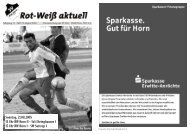 Der Landesligakader in der Saison 2005/2006 - Rot-Weiß Horn