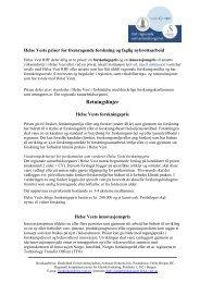 Forskningspris og Innovasjons pris statutter - revidert ... - Helse Vest