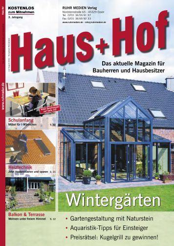 Wintergärten - RUHR MEDIEN Werbeagentur