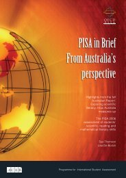 PISA in Brief From Australia's perspective - ACER