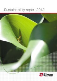 Sustainability report 2012 - Elkem
