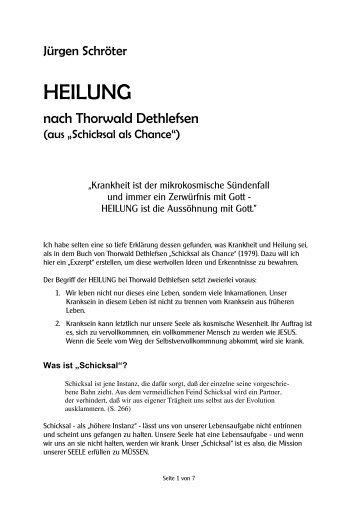 HEILUNG nach Thorwald Dethlefsen - Buch-Besprechungen von ...