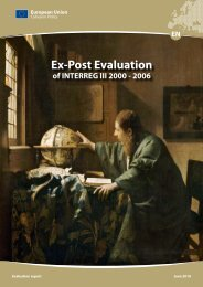 INTERREG Ex-Post Evaluation Final Report - European Commission