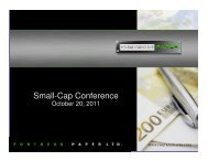 Download Presentation - Small-Cap Conference Series