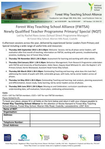 NQT Induction Programme (Primary and Special) - Forest Way School