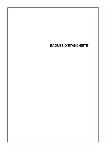 Catalogue bagues d'étanchéïté - MIDI Bobinage