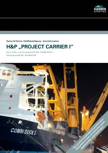"H&P ""PROJECT CARRIER I"" - Harren & Partner"