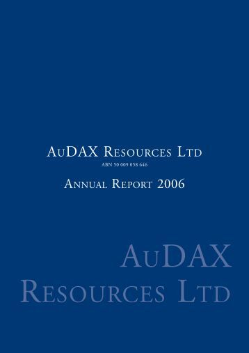 June 2006 Annual Report - ADX Energy