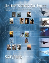 FY08 Performance Based Budgeting Overview Book - Air Force ...