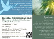 Faithful Considerations - Texas Coalition to Abolish the Death Penalty