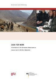 CASH FOR WORK - Food Security Clusters