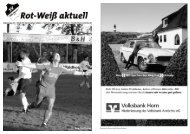 Liebe Sportfreunde! - Rot-Weiß Horn