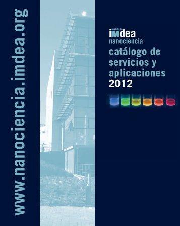 Catálogo de servicios y aplicaciones 2012 - IMDEA Nanociencia