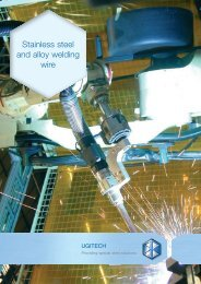 Stainless steel and alloy welding wire - Ugitech