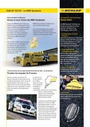 DUNLOP TESTEN – im BMW Sportpokal Dunlop ... - BMW Motorsport