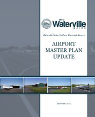 Airport Master Plan 2012 - City of Waterville