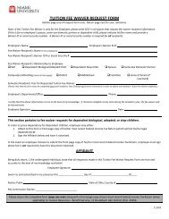 TUITION FEE WAIVER REQUEST FORM
