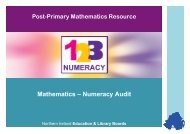 Mathematics Numeracy Audit - Belfast Education & Library Board
