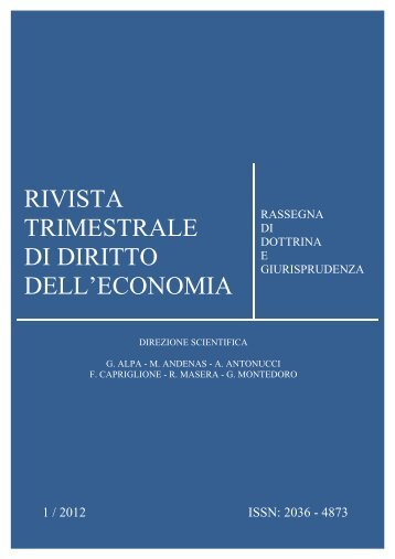 Numero 1 2012 - Fondazione Capriglione Onlus - Luiss