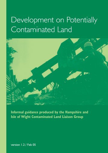 Development on Potentially Contaminated Land