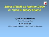 Effect of EGR on Ignition Delay in Truck DI Diesel Engine - Gamma ...