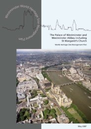 Westminster World Heritage Site Management Plan - English Heritage
