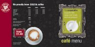 Cafe menu: Stafford Fashion & Home Store