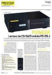 PIONEER Lecteur de CD/SACD stéréo PD-D9-J - Pioneernews