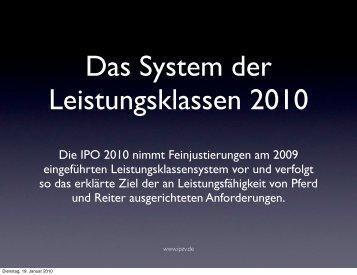 Änderungen Leistungsklassen 2010 - RVI-Waldrennach e.V.