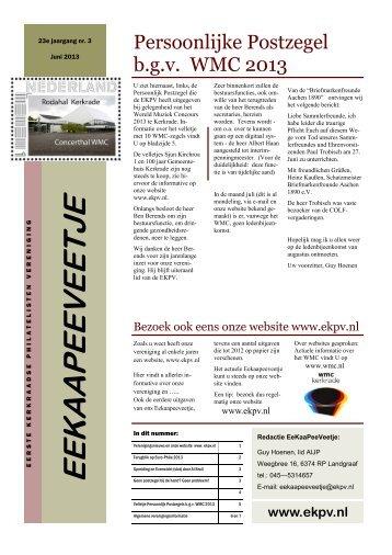 eekaapeeveetje 2013 nr. 3 - Eerste Kerkraadse Philatelisten ...