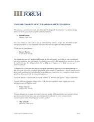 consumer comments about the national arbitration forum