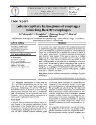 Lobular capillary hemangioma of esophagus mimicking Barretts ...