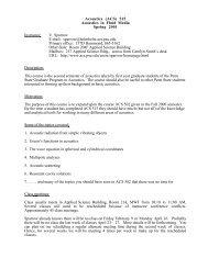 (ACS) 515 Acoustics in Fluid Media Spring 2001 - Graduate ...
